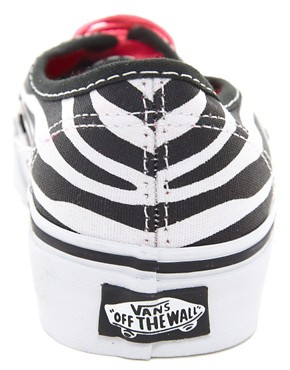 Image 4 ofVans Authentic Zebra Lace Up Trainers