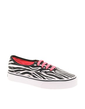 Image 1 ofVans Authentic Zebra Lace Up Trainers