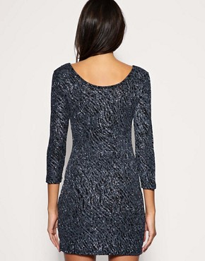 Image 2 ofVero Moda Glitter Sparkle Disco Dress