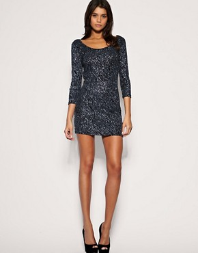 Image 4 ofVero Moda Glitter Sparkle Disco Dress
