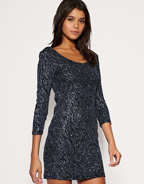 Image 1 ofVero Moda Glitter Sparkle Disco Dress