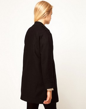 Image 2 ofASOS Button Front Cocoon Coat