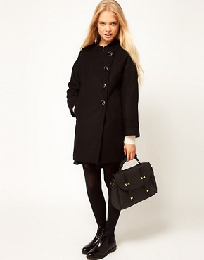 Image 4 ofASOS Button Front Cocoon Coat
