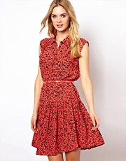French Connection Drop Waist Dress With Belt