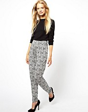 ASOS Peg Trousers in Sketchy Print