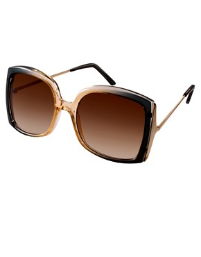Image 1 ofASOS Oversized Square Sunglasses With Metal Detail