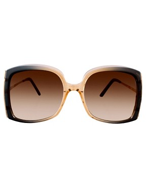 Image 2 ofASOS Oversized Square Sunglasses With Metal Detail
