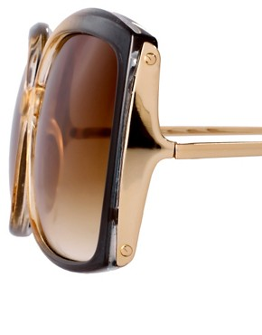 Image 4 ofASOS Oversized Square Sunglasses With Metal Detail