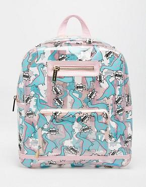 Skinnydip Dinosaur Clear Backpack