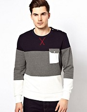 Voi Sweatshirt With Cut And Sew
