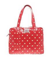 Cath Kidston Large Zip Top Red Spot Bag