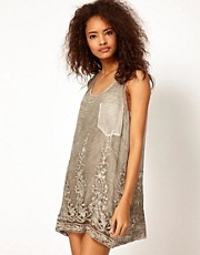 Diesel Sheer Dress With Lace Hem
