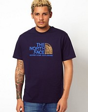 The North Face T-Shirt with Cracked Logo Print