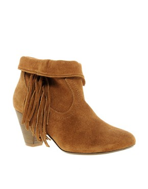 Image 1 ofSteve Madden Pistoll Fringed Western Boots