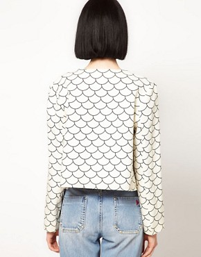Image 2 ofThe Rodnik Band Fish Scale Print Jacket