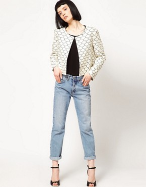 Image 4 ofThe Rodnik Band Fish Scale Print Jacket