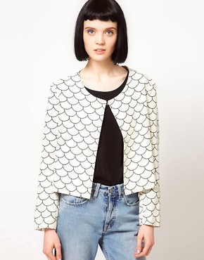 Image 1 ofThe Rodnik Band Fish Scale Print Jacket
