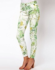 Ted Baker Panna Jeans in Dancing Leaves Print