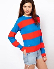 Lacoste L!Ve Wide Striped Jumper