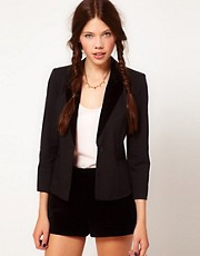 b + ab Contrast Lapel Blazer.