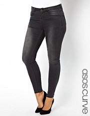 ASOS CURVE Excluisve Ridley Super Soft Skinny In Washed Grey