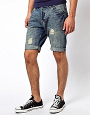 River Island Nirvana denim Shorts
