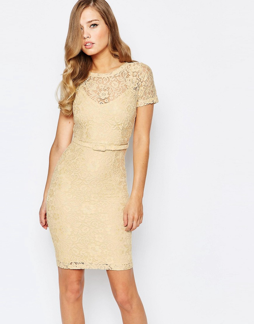 Body Frock Anya Lace Dress in Lemon Sherbert