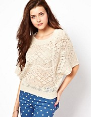 Vero Moda Crochet Batwing Sweater