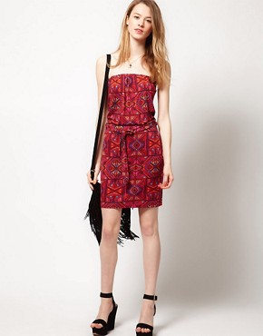 Image 4 ofWarehouse Ikat Print Dress
