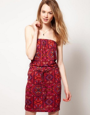 Image 1 ofWarehouse Ikat Print Dress