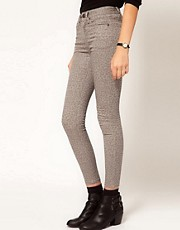 Selected Filippa Leopard Print Skinny Jeans