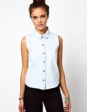 Glamorous Crop Denim Shirt