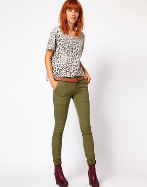 Image 1 ofCurrent/ Elliot Combat Skinny Jeans In Army