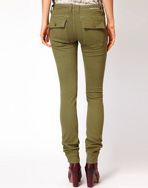 Image 2 ofCurrent/ Elliot Combat Skinny Jeans In Army