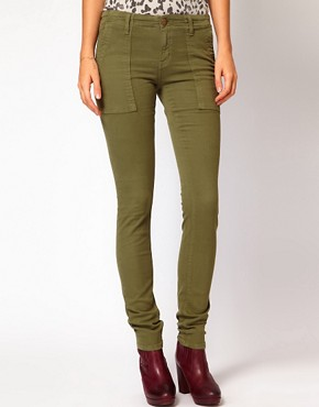 Image 4 ofCurrent/ Elliot Combat Skinny Jeans In Army