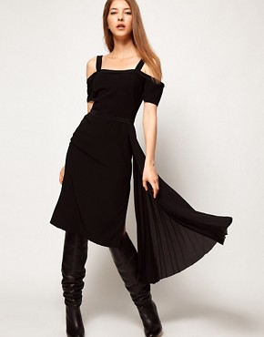 Image 4 ofKore by Sophia Kokosalaki Off Shoulder Pleat Panel Dress