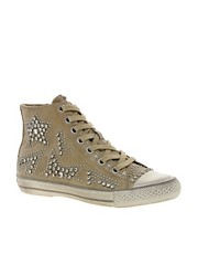 Ash Vibration Stud High Top Trainers