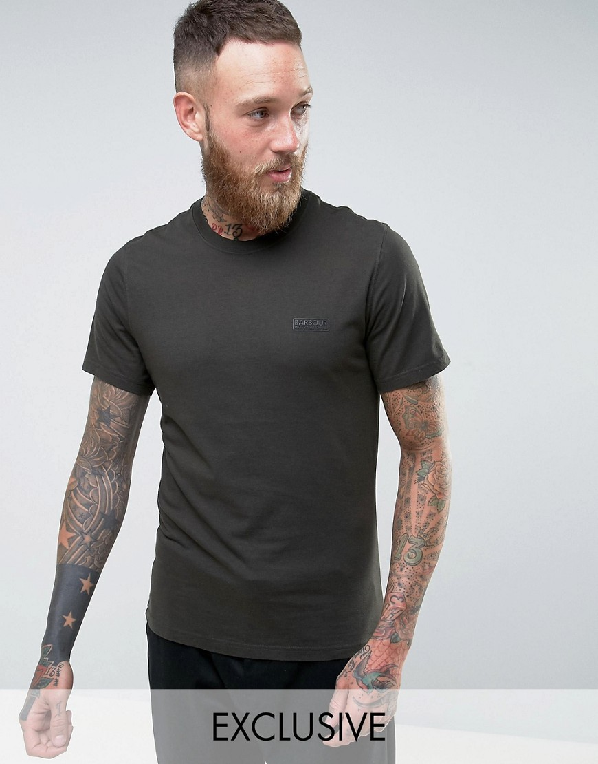 Barbour T-Shirt with International Logo Print - Olive