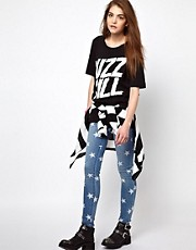 House of Holland Tee with &#39;Buzz Kill&#39; Print