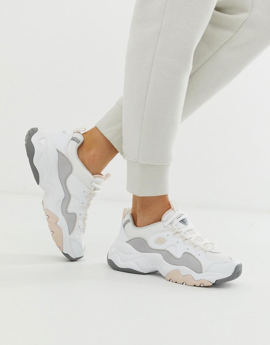 - Skechers – D'Lite 3.0 – Klobige Sneaker in Weiß