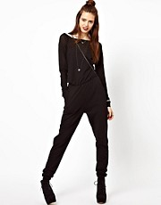 ASOS Onesie with Sheer Sleeves