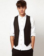 ASOS Waistcoat in Tweed