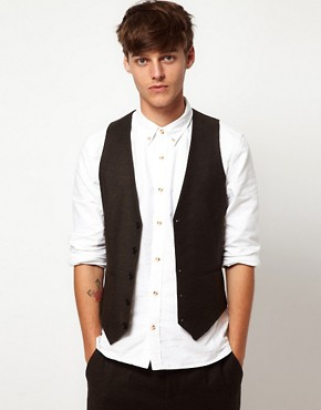 ASOS Vest in Tweed