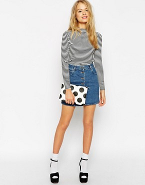 ASOS Spotty Clutch Bag