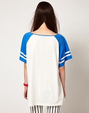 Image 2 ofLazy Oaf Exclusive Football T-Shirt