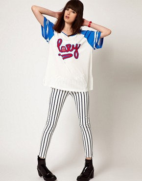 Image 4 ofLazy Oaf Exclusive Football T-Shirt