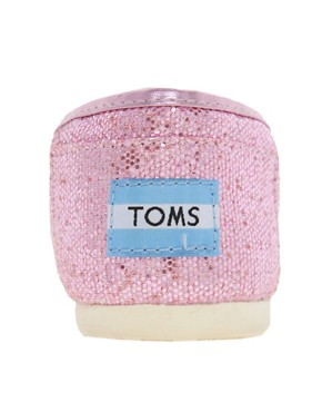 Image 2 ofTOMS Pink Glitter Flat Shoes