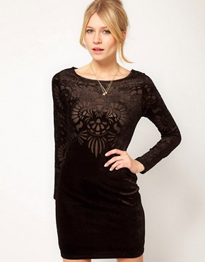 Image 1 ofOasis Velvet Burn Out Dress