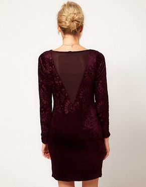 Image 2 ofOasis Velvet Burn Out Dress