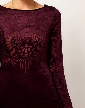 Image 3 ofOasis Velvet Burn Out Dress